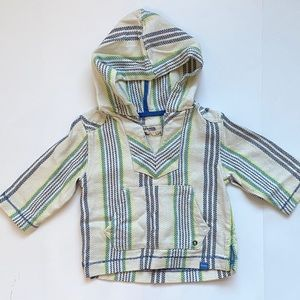 Toddler Baja hooded poncho